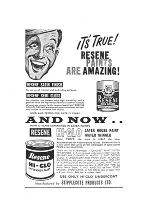 Resene advert from 1963.