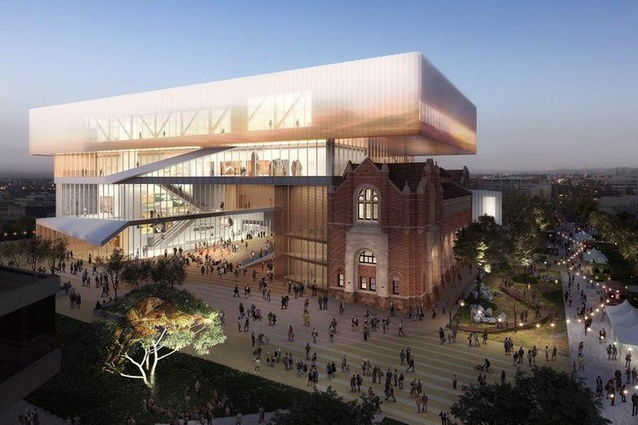 The New Museum for WA designed by Hassell and OMA with managing contractor Brookfield Multiplex.