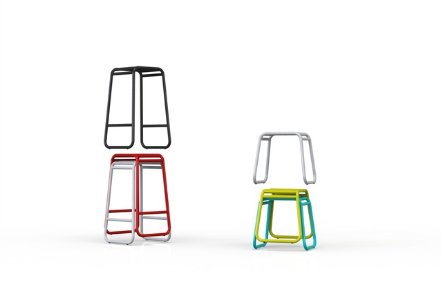 The stackable Tote stool by Convert Studios.