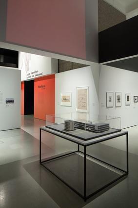 Model of the Bauhaus building at Dessau.