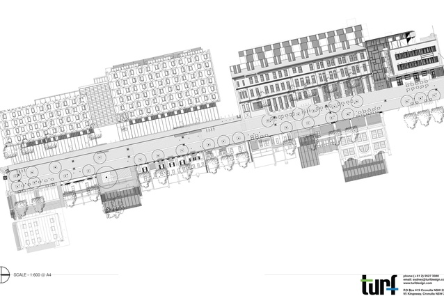 Kensington Street plan with building profiles.
