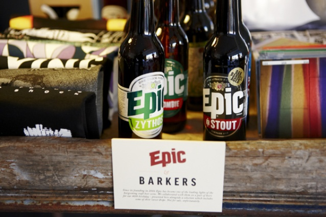 Epic craft beers are thrown into the mix, but not for sale unfortunately.