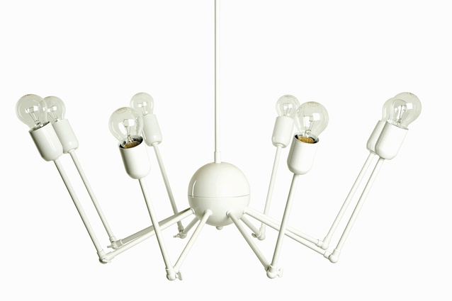 The Octopus chandelier is available in a variety of colours.