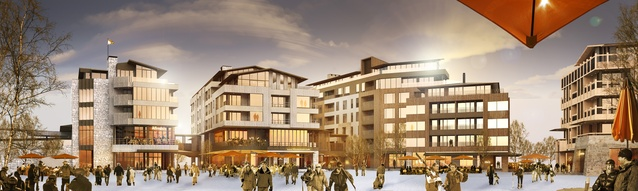 RTA's competition-winning scheme for the Hanazono Resort Village.