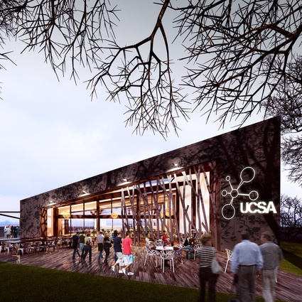 Completion date – May 2012. UCSA Events Centre, University of Canterbury by Warren & Mahoney, 90 Ilam Road. The building aims to be the focus of student social life on campus.