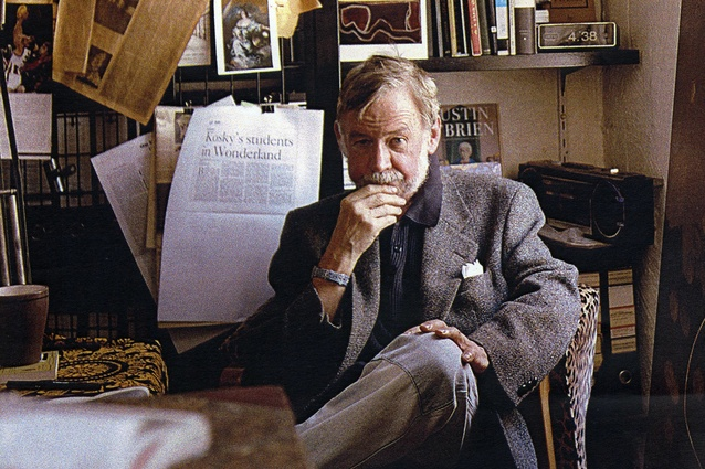 Peter Corrigan, pictured in his library.