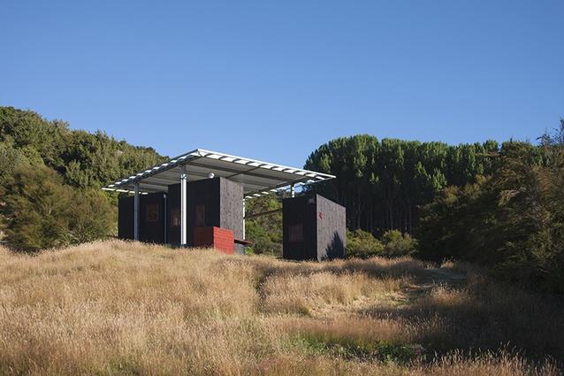Sarosh Mulla's Longbush Ecosanctuary Welcome Shelter in Gisborne.