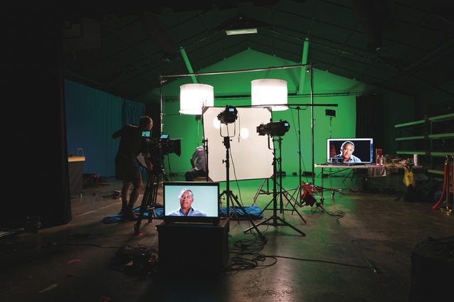 The studio space is equipped with green screen technology and is fully soundproofed.