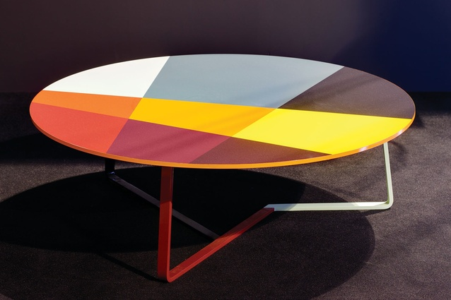 Patchwork table by Arik Levy at the 2012 Milan Furniture Fair.