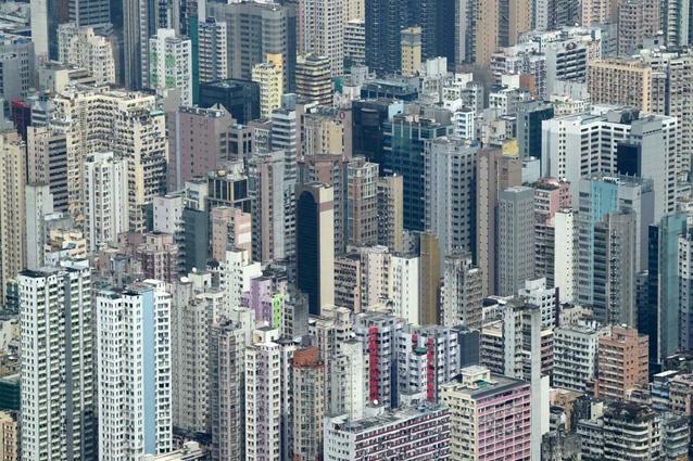 Hong Kong buildings.