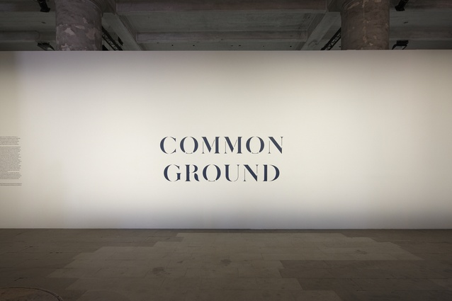 Common Ground banner inside the Arsenale.
