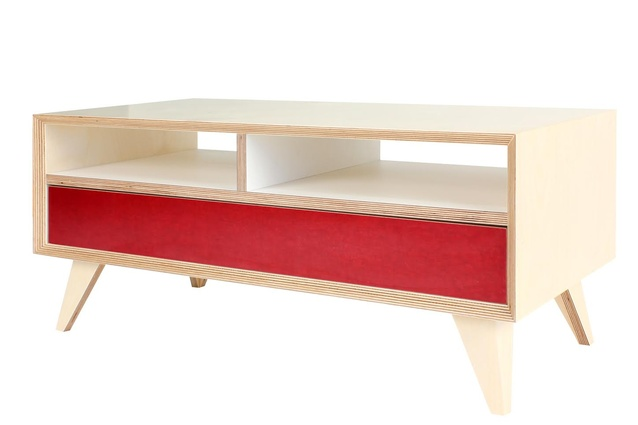 The unit is made of Scandinavian 13-ply plywood and finished with birch vaneer.