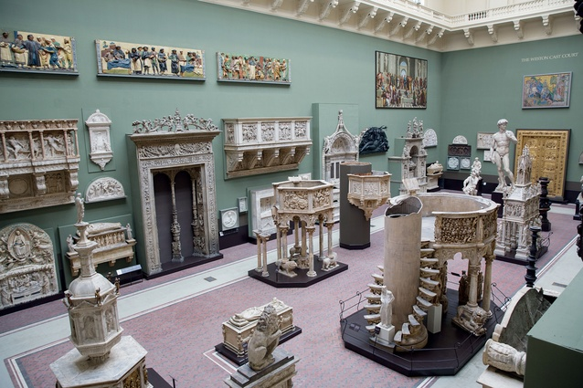 The 'Weston Cast Court' at the Victoria and Albert Museum in London.
