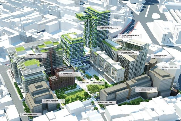 Masterplan for Sydney's Central Park.