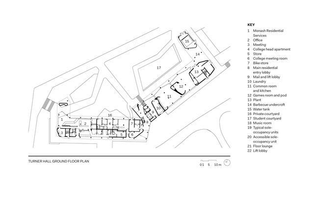 Turner Hall ground floor plan.