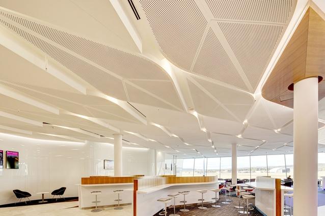 Virgin Australia Canberra Lounge by Tonkin Zulaikha Greer Architects.