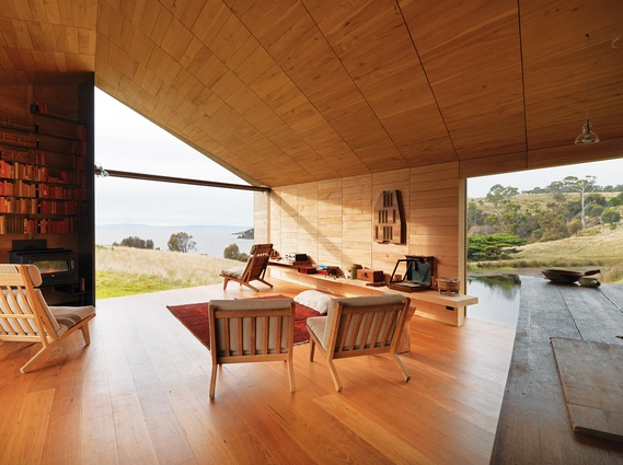 2012 Australian House of the Year: Shearer's Quarters (John Wardle Architects) on Tasmania's Bruny Island.