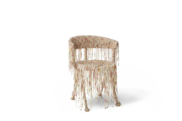 The Officina chair reinvented by Tracey Deep for Chairity Project 2016.
