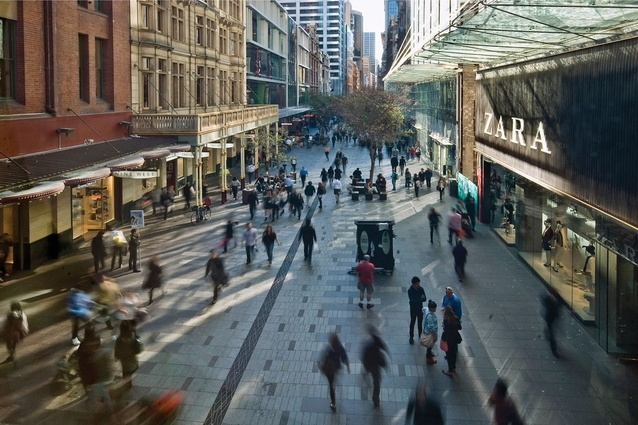 Urban Design Commendation: Pitt Street Mall Public Domain Upgrade by Tony Caro Architecture.