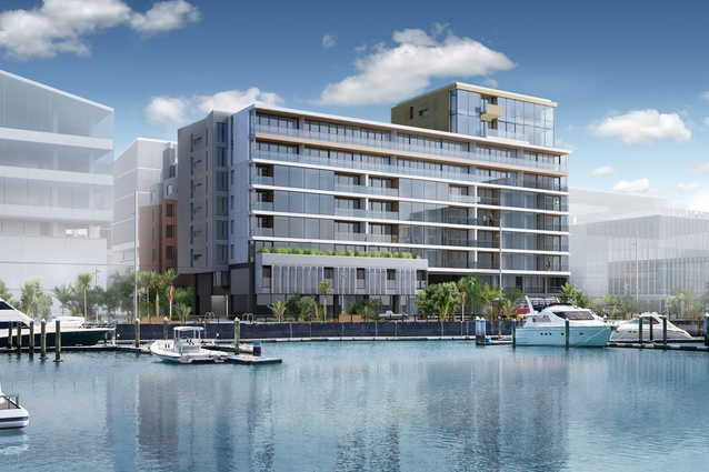 Designed by Athfield Architects, 123 Halsey combines a waterfront location with premium inner-city living