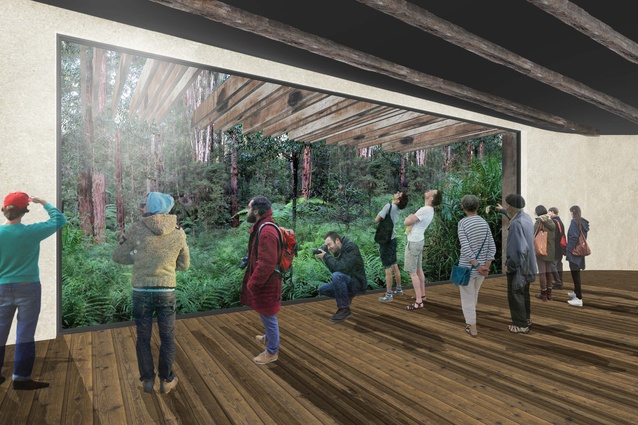 The proposed visitor centre in the masterplan for the Australian National Botanic Gardens by Taylor Cullity Lethlean and Tonkin Zulaikha Greer.