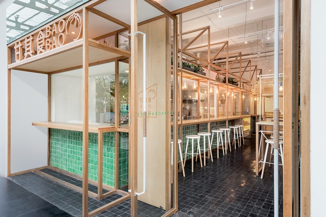 The concept for the Baobao eatery in Chifeng Road references the hospitality brand's 'garden to plate' ethos.
