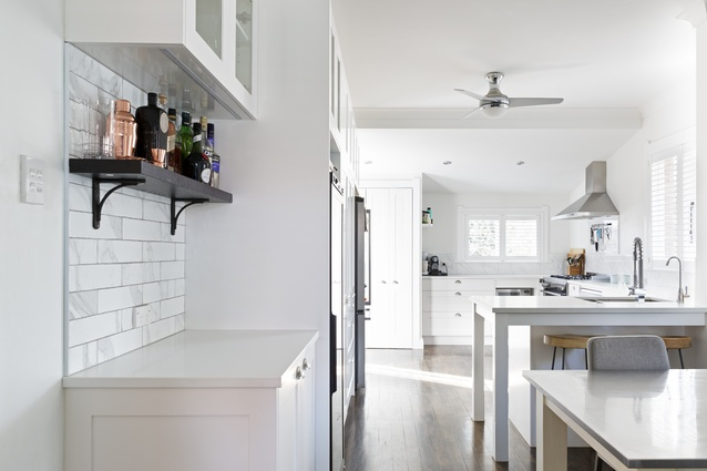 The kitchen is a central part of this family's home and work life.