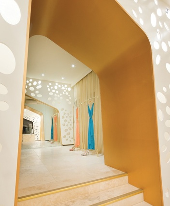 View through one of the many gold arches 