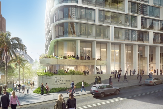 The proposed Quay Quarter Tower by 3XN and BVN.