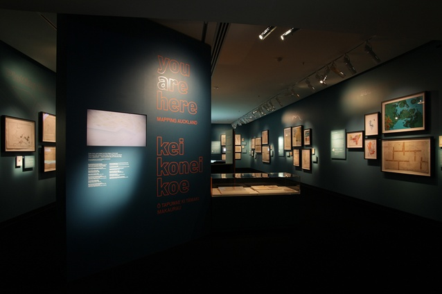 Installation Design Finalist: You are Here: Mapping Auckland by Kathy Waghorn, Cris De Groot and Auckland War Memorial Museum.