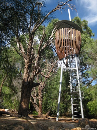 Viewing towers / tree hides are inspired by the shape of seeds, adding dynamic form and structure.