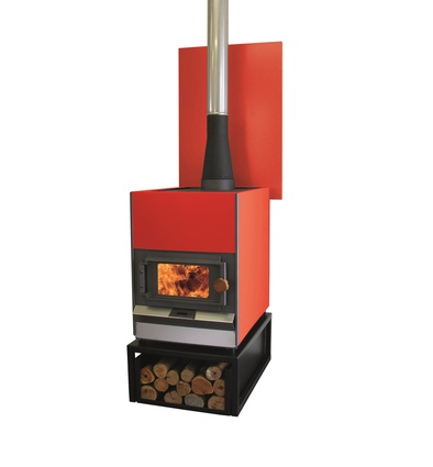 "Handmade in the Hawke's Bay, the <a href=""http://www.pyroclassic.co.nz/"" target=""_blank""><u>Pyroclassic IV free-standing woodburner</u></a> is available in 100 colours, it can be fitted with a high-output wetback for hot water, and you can cook on it."