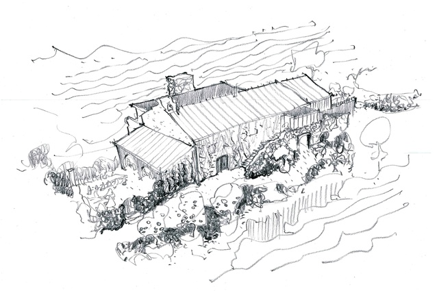 Drawing by Nat Cheshire of Cheshire Architects.