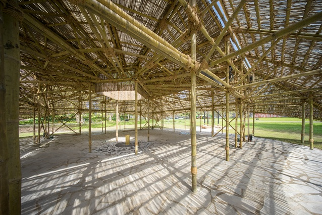 Interior of the 2016 MPavilion designed by Studio Mumbai.