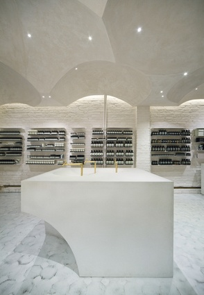 Aesop collaborated with Snøhetta for its one hundredth store, located in Oslo, Norway.