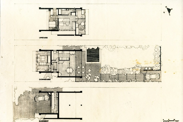 1969 plans – the courtyard shown here is now enclosed.