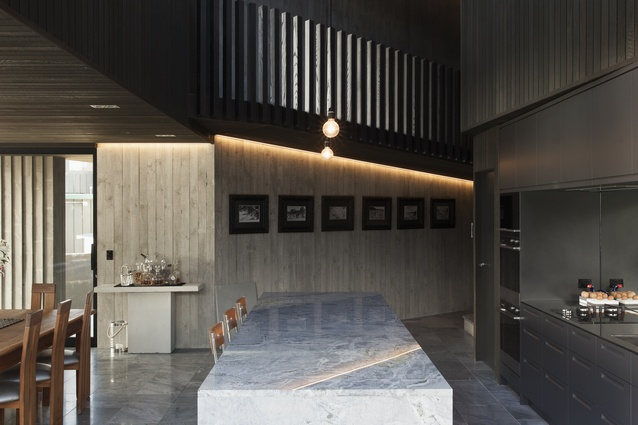 Textures throughout the home have been chosen to complement the tactility of the concrete.