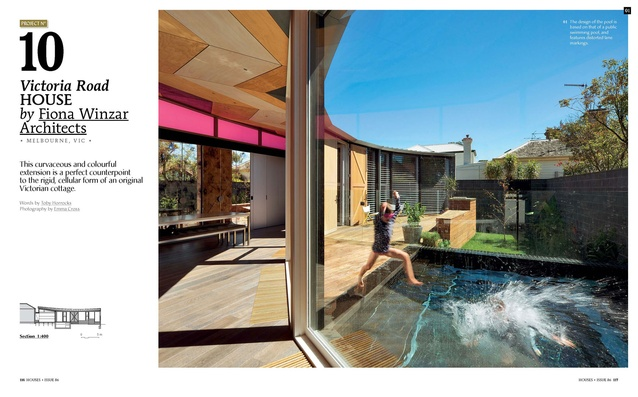 A preview from the magazine: Victoria Road House by Fiona Winzar Architects.
