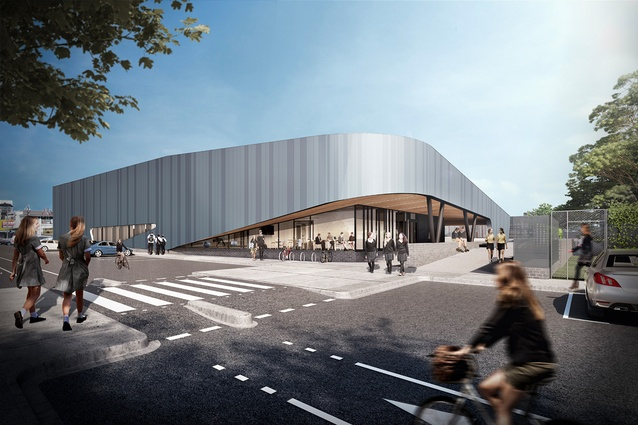 The proposed sports precinct building of Richmond High School designed by Hayball.