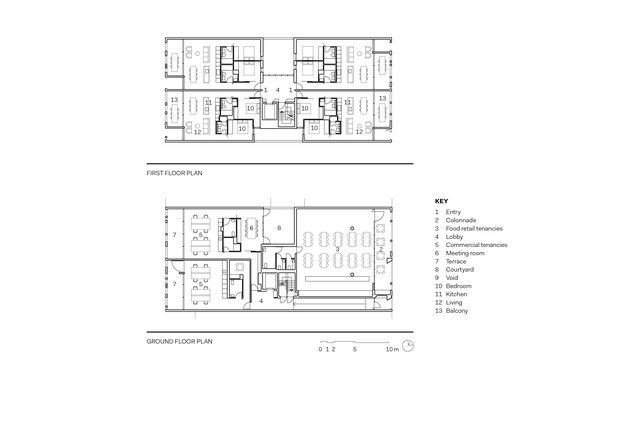 Sydney 385 ground and first floor plans.