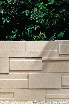 Mondrian retaining wall from Amber Tiles.