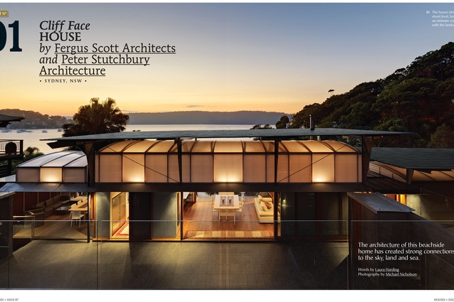 A Preview From The Magazine Cliff Face House By Fergus Scott Architects And Peter Stutchbury
