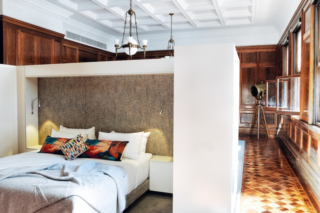The C.U.B. Suite features the original flooring, heritage timber panelling, ceiling and chandeliers of the room.