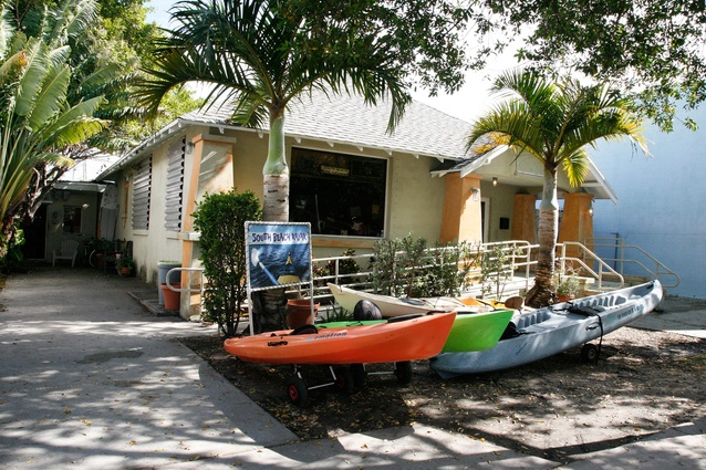 Kayaks are a great way to explore Biscayne Bay.