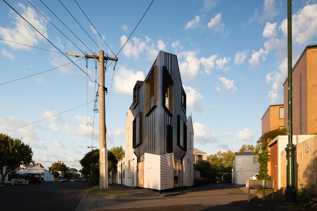A tiny, triangular and nearly derelict site receives a sharp redesign.