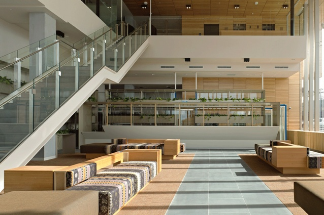 Dandenong government offices by hassell received a 6 star for Office design brisbane