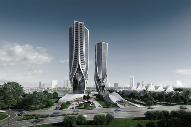 The proposed Mariner's Cove development designed by Zaha Hadid Architects.