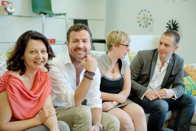At Artichoke Night School: (left to right) Rowena Cornwell, Geoff Bainbridge, Penny Craswell and Byron George.