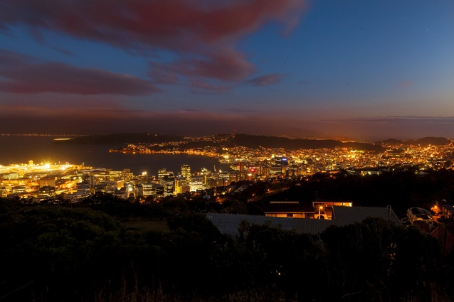 New Zealand's capital by night.