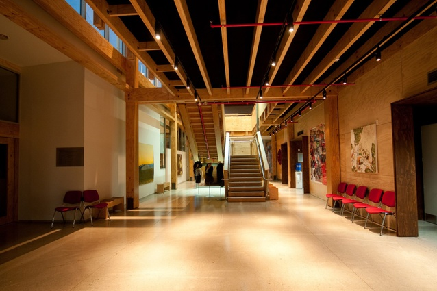 The Nelson Marlborough Institute of Technology building demonstrates that sustainable multi-storey timber buildings can also ensure a high level of earthquake protection.